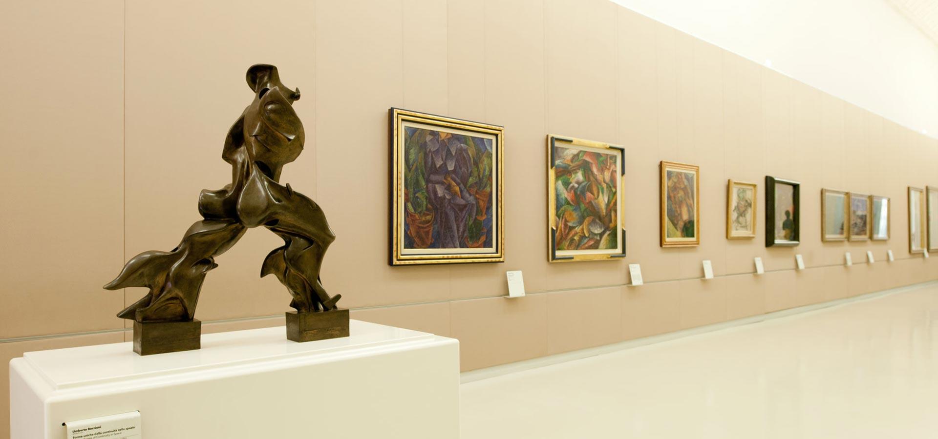 Foto di una sala del Museo del Novecento a Milano